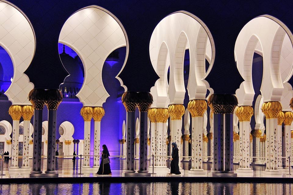 Illuminated, Night, Pray, Muslim