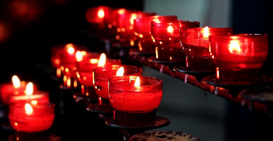 Candles, Church, Light, Lights, Prayer, Tea Lights