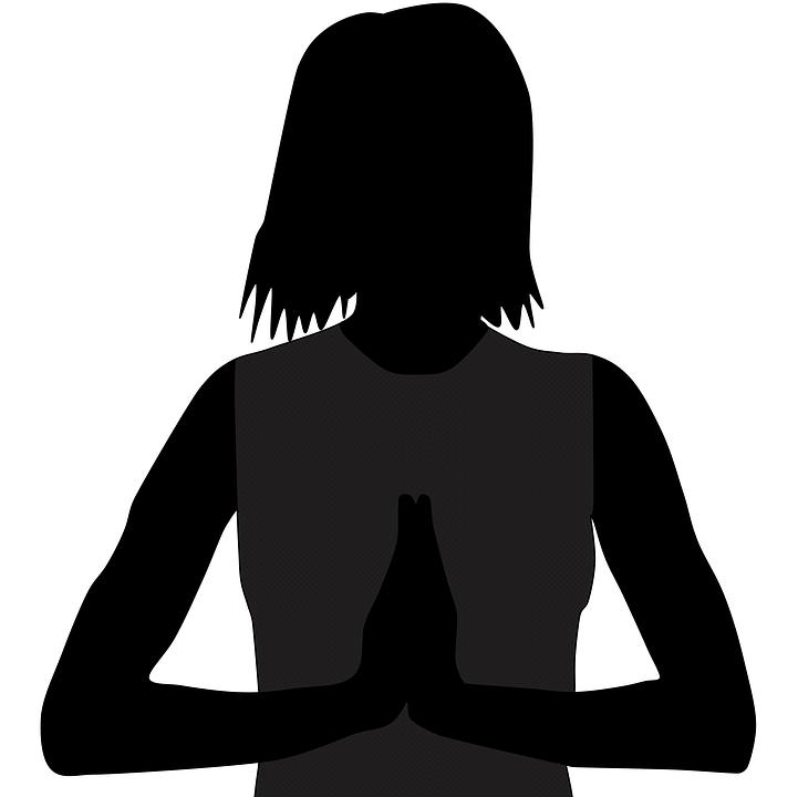 Woman Praying, Pray, Prayer, Silhouette, Religion