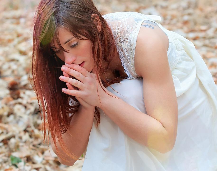 Woman, Lovely, Young, Girl, Prayer, Church, Faith, Hope