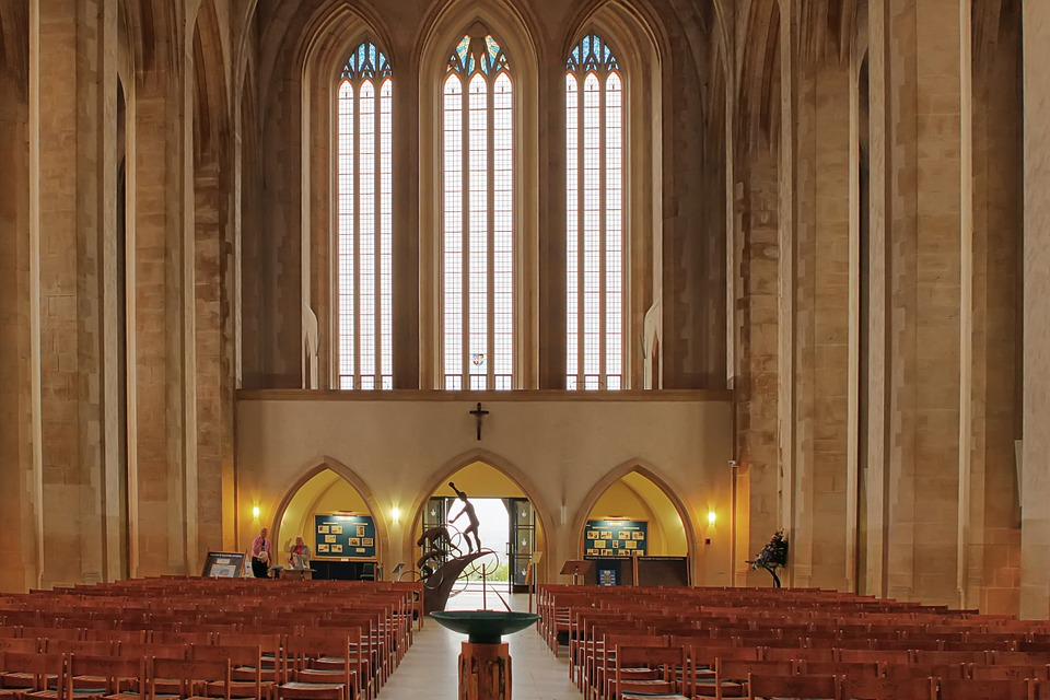 Guildford, Cathedral, Church, Religion, Praying