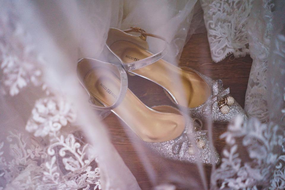 Shoes, Wedding, Bride, Beauty, Love, Preparation, Dress