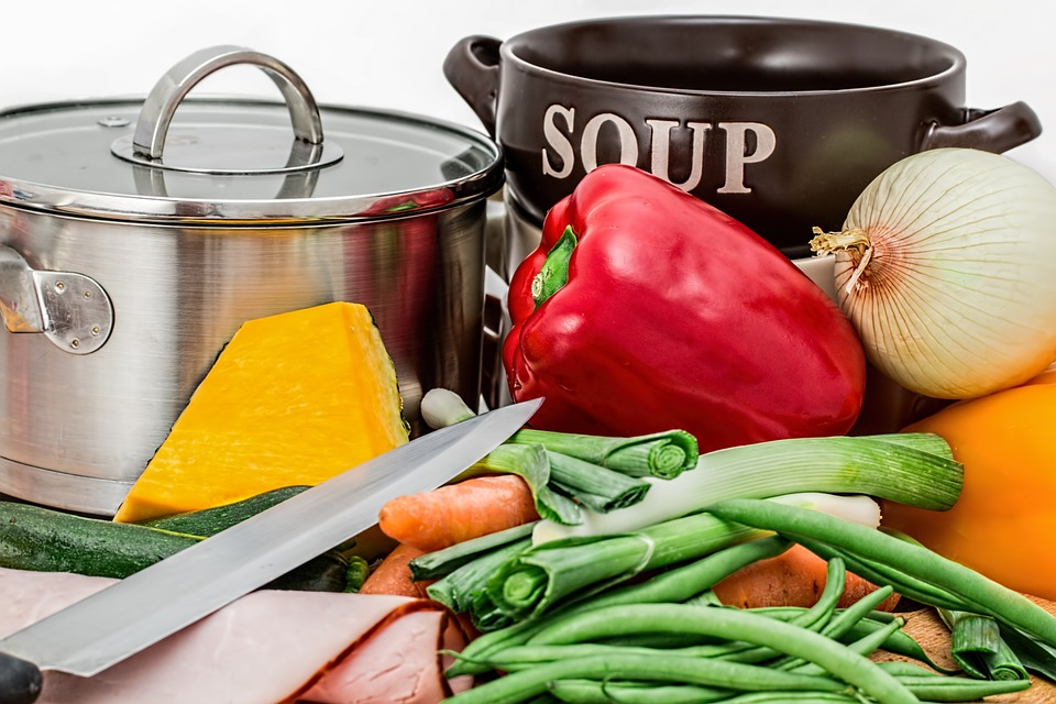 Vegetables, Pot, Cooking, Ingredients, Preparation