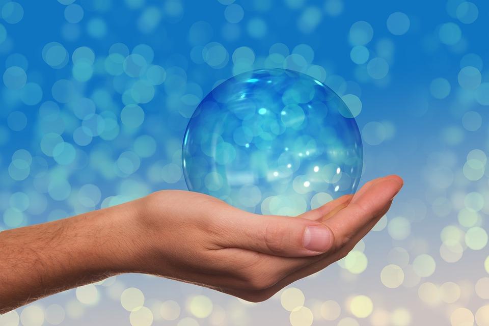 Hand, Keep, Ball, Bokeh, Blur, Finger, Present