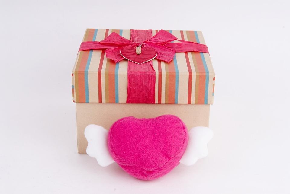 Present, Hart, Box, Gift, Love, Romantic, Decorative