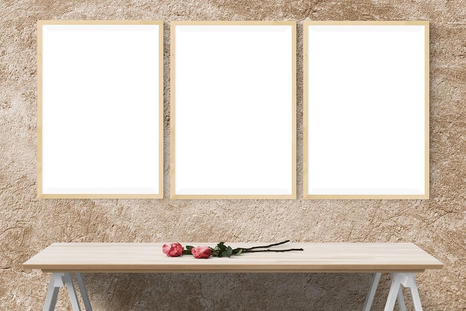 free photo presentation desk poster mockup wall template max pixel