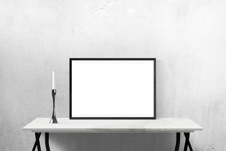 free photo presentation mockup wall desk template poster