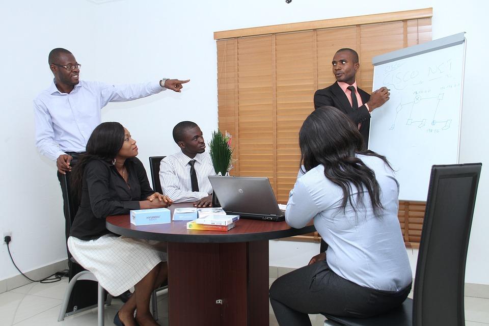 Colleagues, Seminar, Presentation, Business, Office