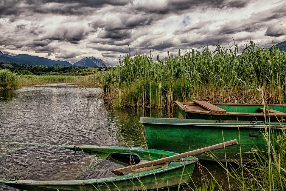 Pressegger See, Carinthia, Rowing Boat, Hermagor