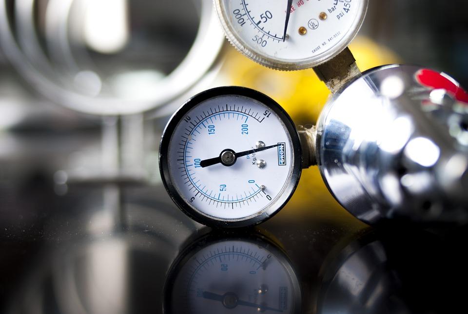 Pressure Gauge, Oxygen, Industry, Caliber