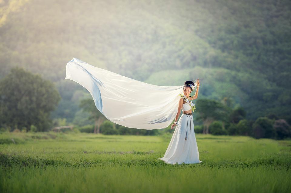Bride, Wedding, Adult, Asia, Pretty, Dressed Up, Fresh
