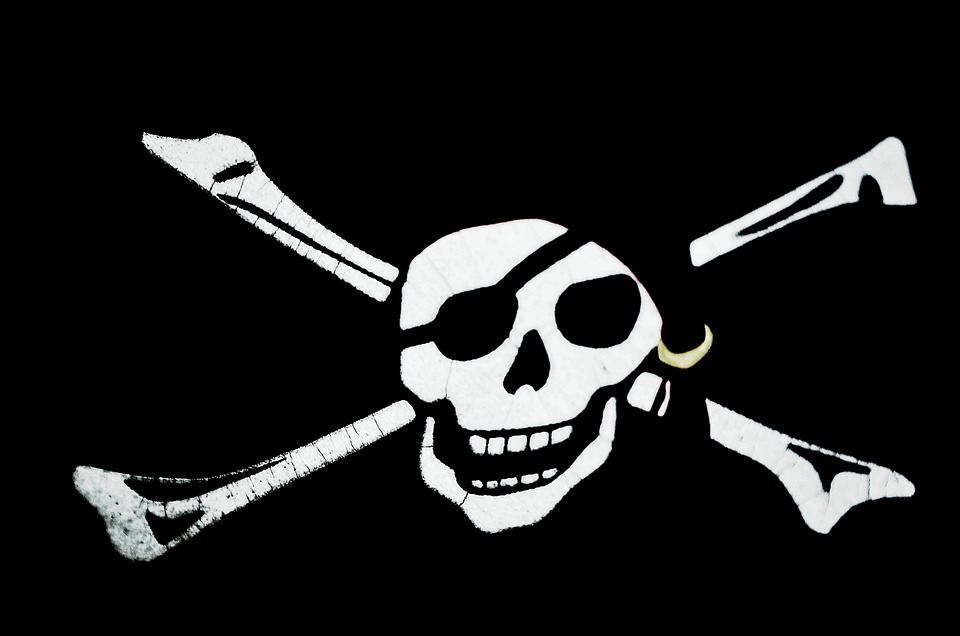 Pirates, Symbol, Skull, Bone, Prey, Danger, Background