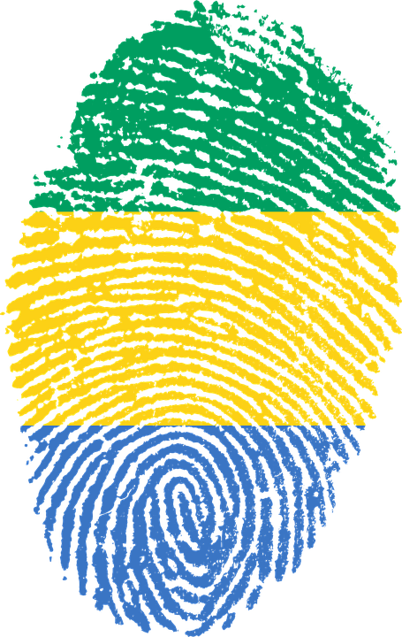 Gabon, Flag, Fingerprint, Country, Pride, Identity