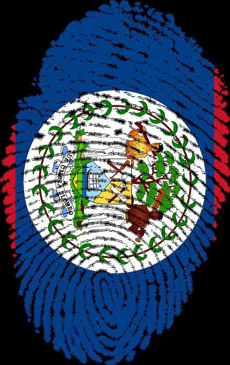 Belize, Flag, Fingerprint, Country, Pride, Identity