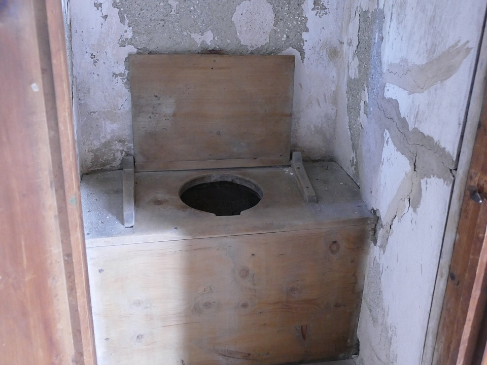 Toilet, Primitive, Castle, Old Style