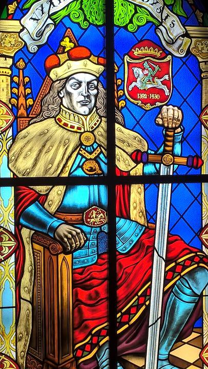 Stained Glass, Chase, Prince, Warrior, Sword, Window