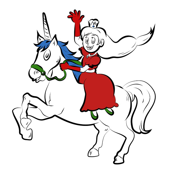 Unicorn, Princess, Coloring Pages, Magic, Horn, Cute