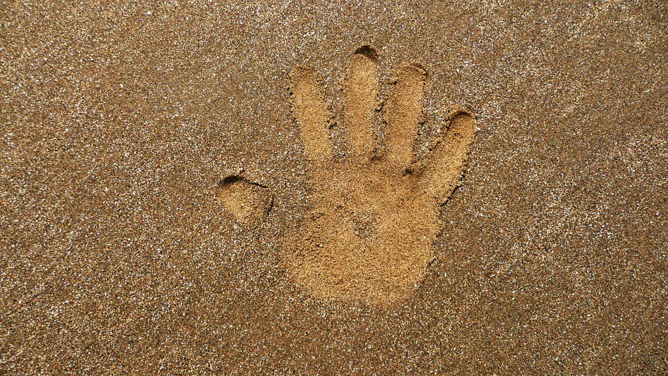 Hand, Print, Sand, Decal, Design, Pattern, Kid, Imprint