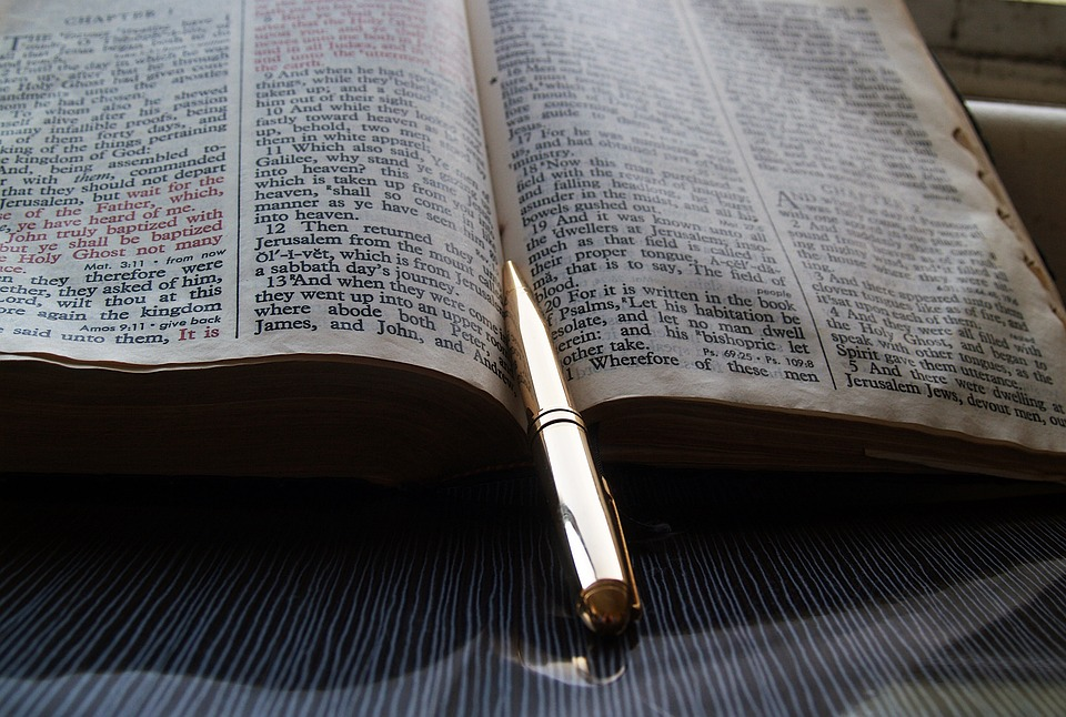 Bible, Pen, God, Text, Holy, Read, Print, Shiny, Gold