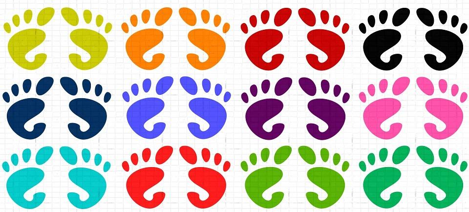 Feet, Foot, Prints, Patterns, Designs, Human, Body