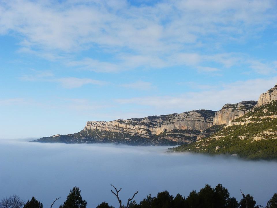 Fog, Sea fog, Fogging, Priorat, Montsant, Clouds