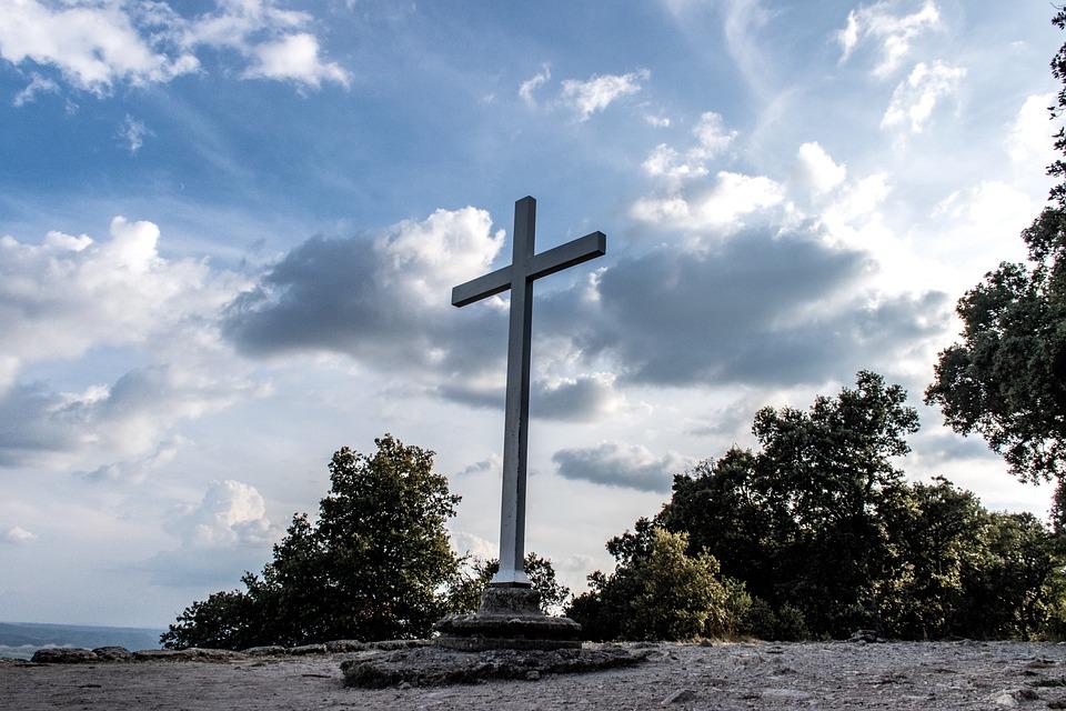 Ganagobie, Cross, Symbol, Priory, Monastery, Monument