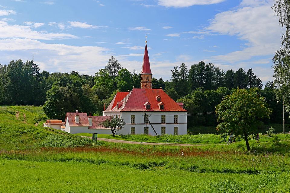 Priory Palace, Gatchina, Russia, Stroll, Nature
