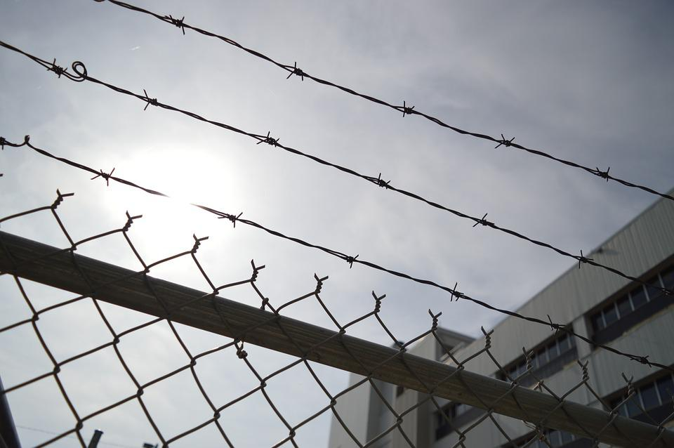 Barbed Wire, Chain Link, Fence, Prison, Metal, Barrier