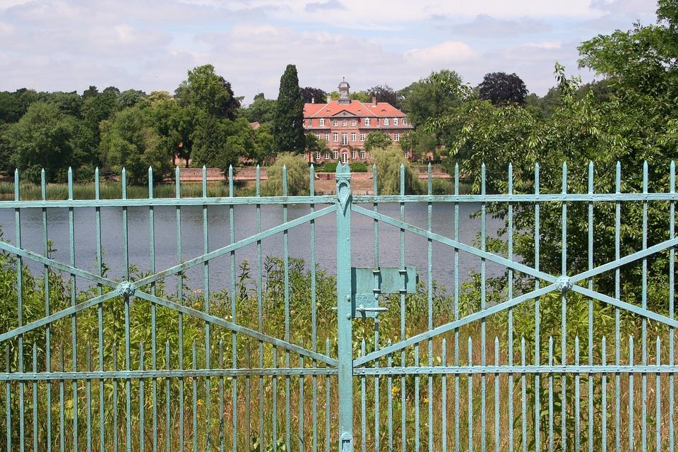 Private, Fence, Lake, Private Land, House, Villa