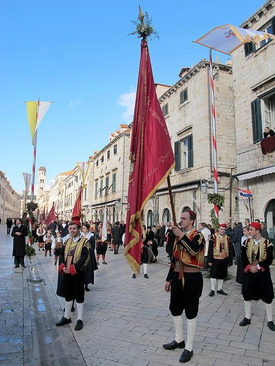 Dubrovnik, Procession, St, Blaise, Vlaho, Catholic