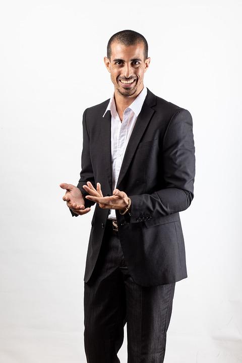 Businessman, Suit, Portrait, Man, Male, Professional