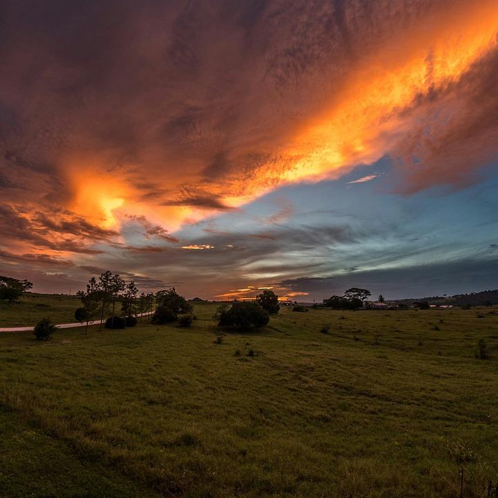 Sunset, Square, Profile, Picture, Photo, Pretty