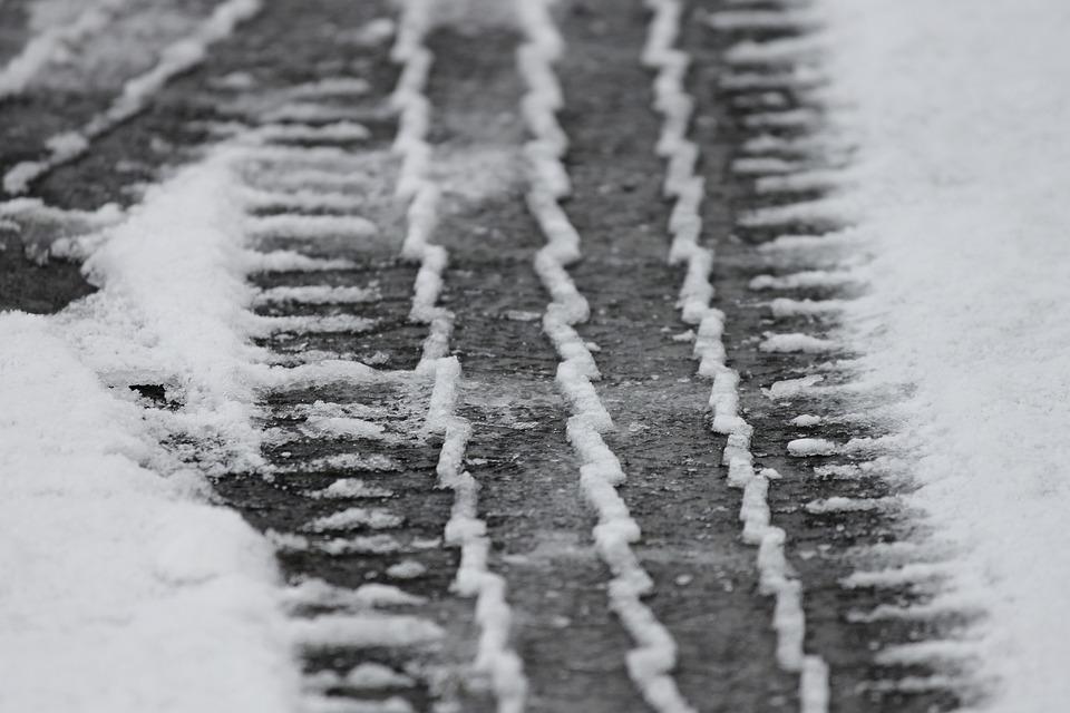 Tire Tracks, Snow, Mature, Profile, Winter Tires