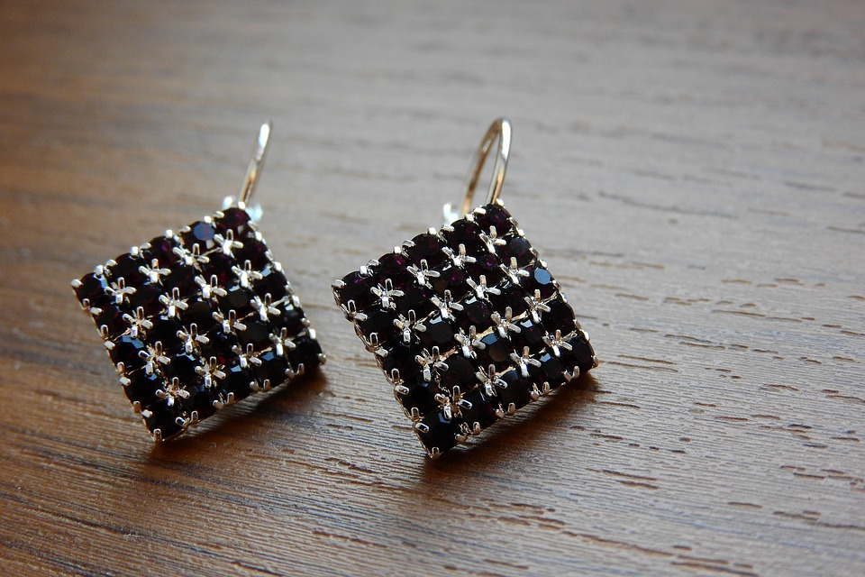 A Pair Of Silver Earrings, Prom Jewelry