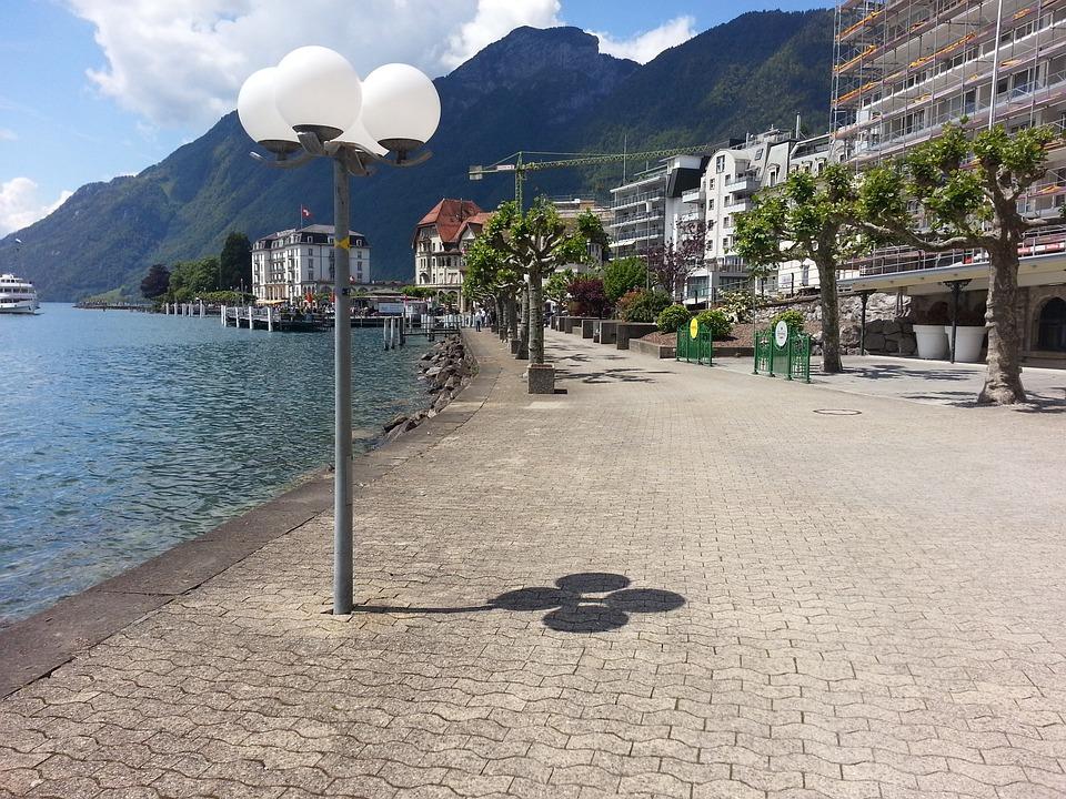 Promenade, Lake, Switzerland