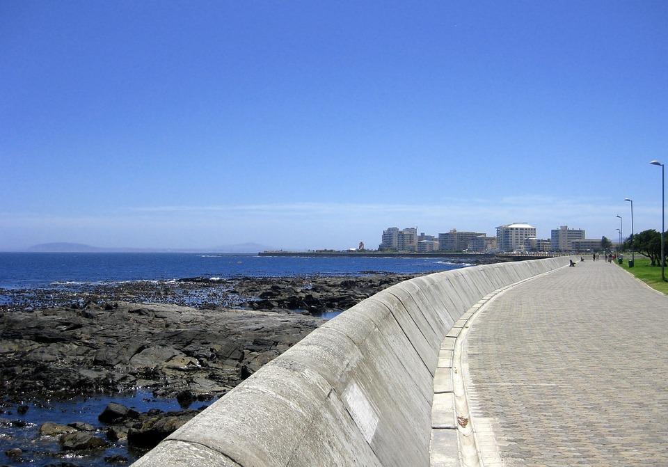 Cape Town, Promenade, Sea Wall, Sea, Shore, Town, Water