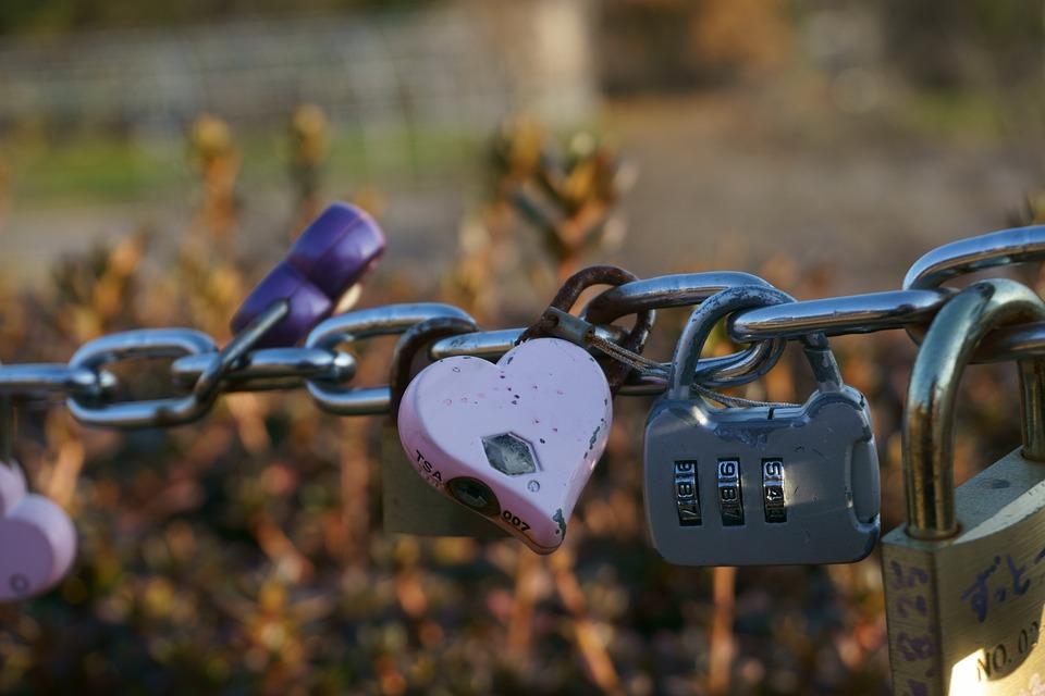 Promise, Chain, Love, Padlock, Rust, Heart, Lock