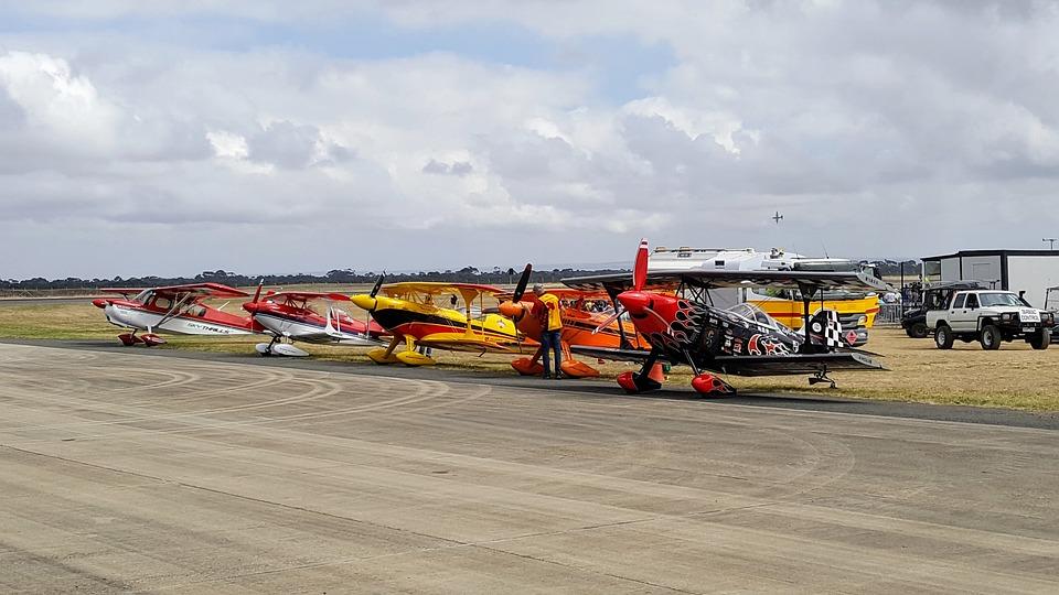 Airshow, Airplanes, Prop Planes, Fleet, Day, Runway