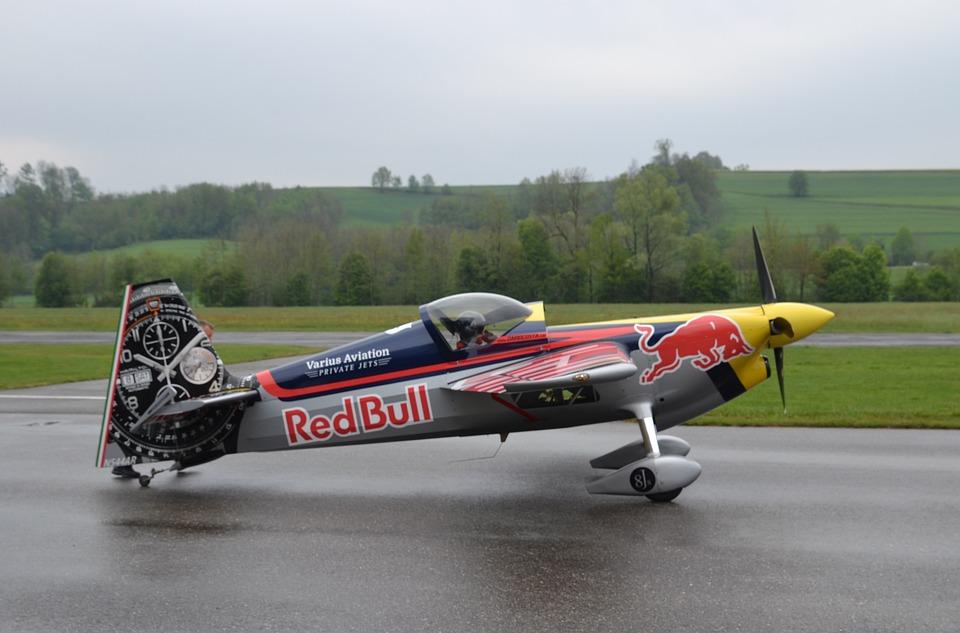 Aircraft, Aerobatics, Propeller Plane, Red Bull