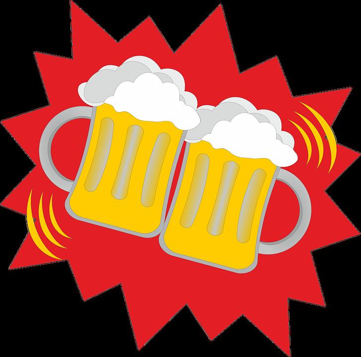 Beer, Beer Glasses, Abut, Prost, Cheers, Celebrate