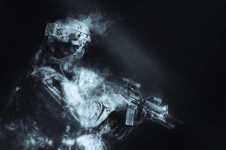 Soldier, Shadow, Hidden, Military, Protection