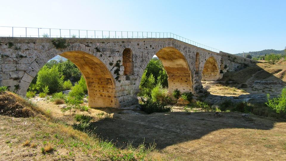 Provence, South Of France, Building, Bridge, Romans