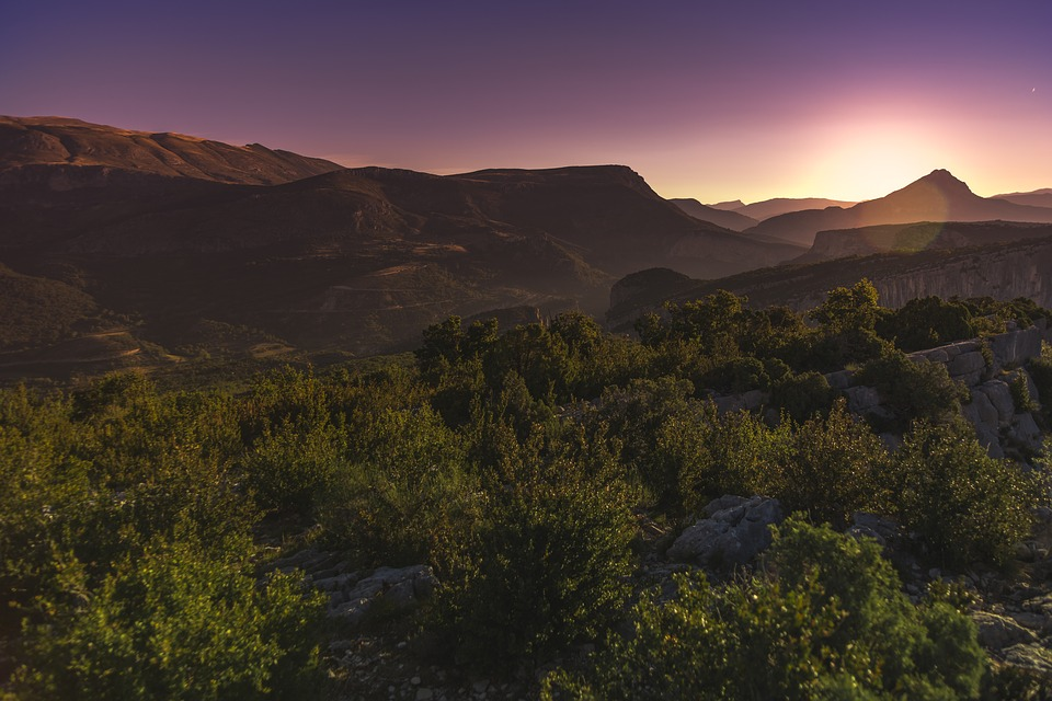 Sunset, Verdon, Mountain, Provence, Gorges Du Verdon