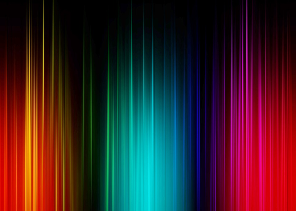 Spectrum, Psychedelic, Green, Background, Gradient