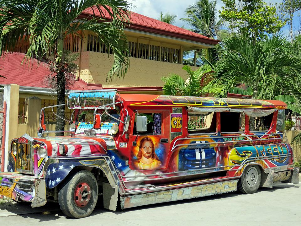 Bus, Jeepney, Colorful, Transport, Vehicle, Public