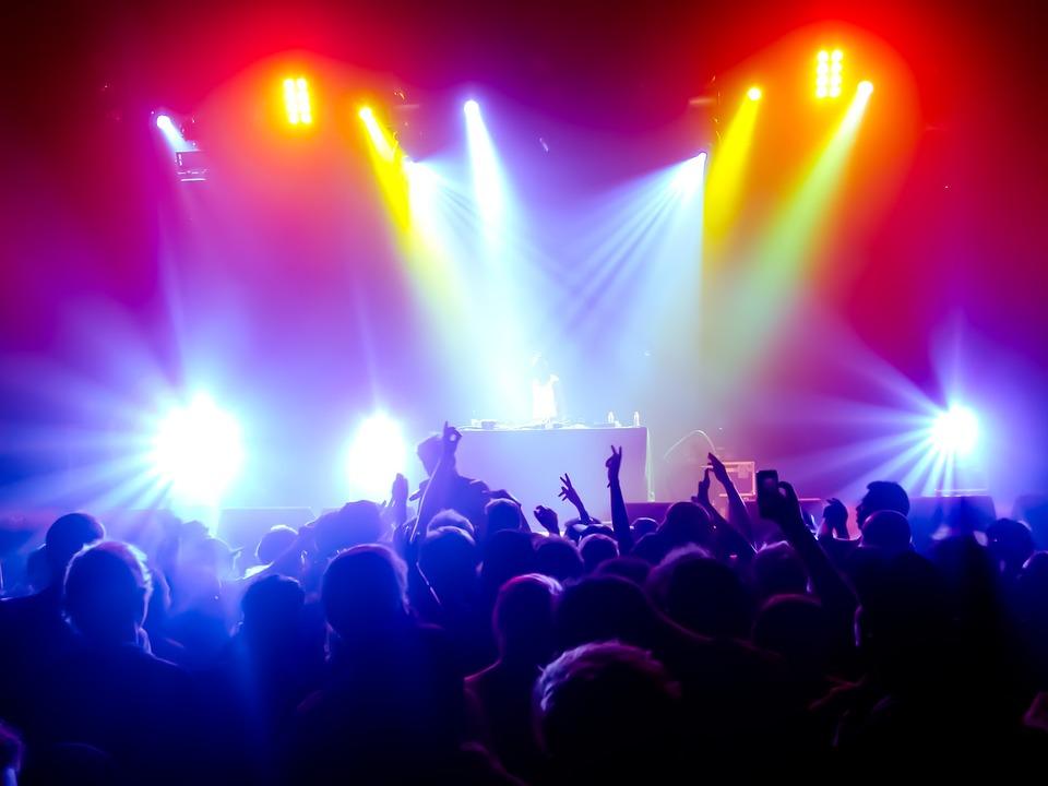 Concert, Sound, Light, Public, Party