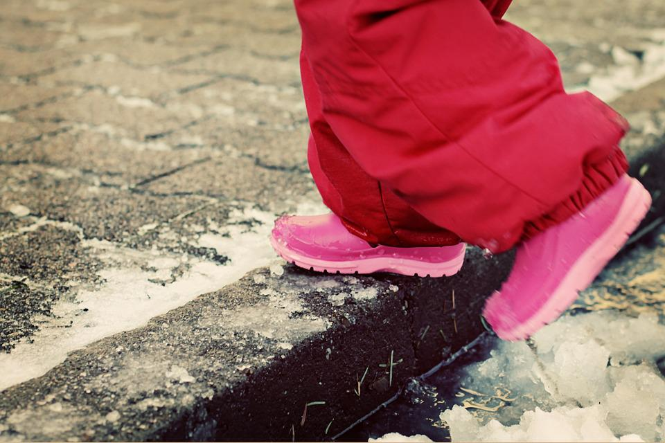 Winter, Boots, Snow, Snow Suit, Puddle, Cold, Ice, Icy