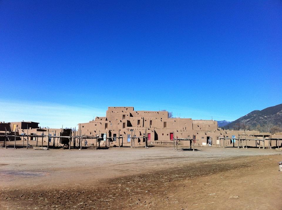 Taos, Adobe, Pueblo, Indian