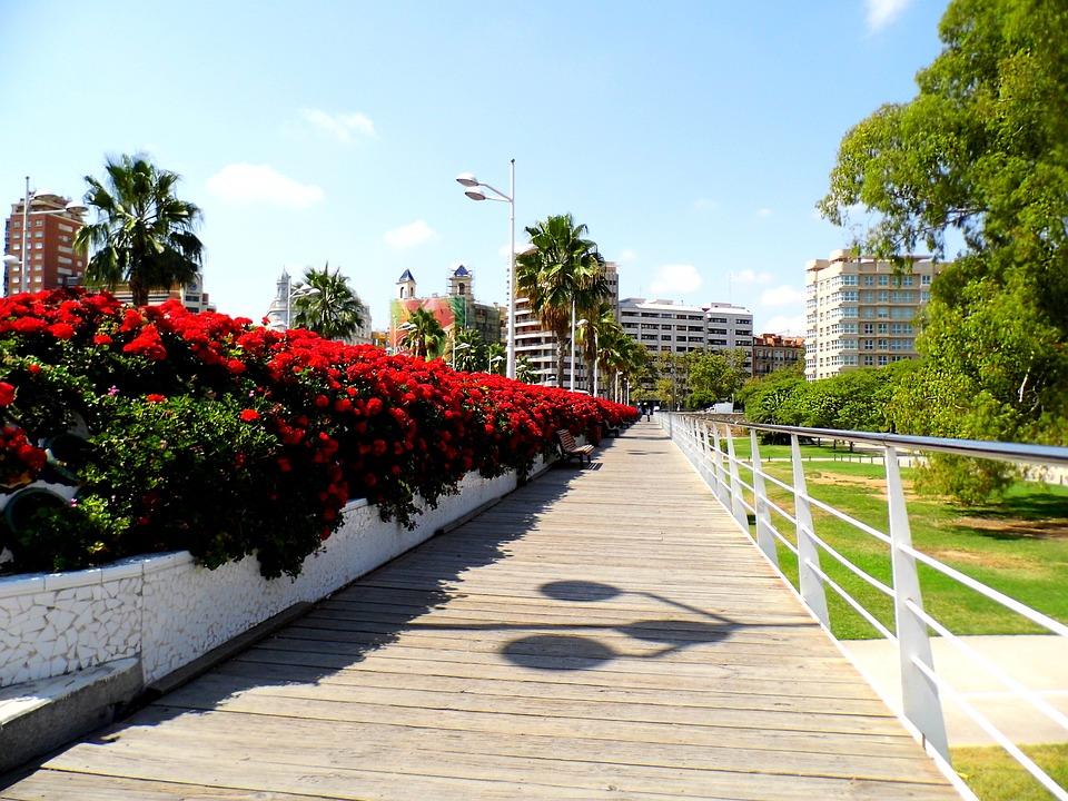 Valencia, España, Puente De Los Flores