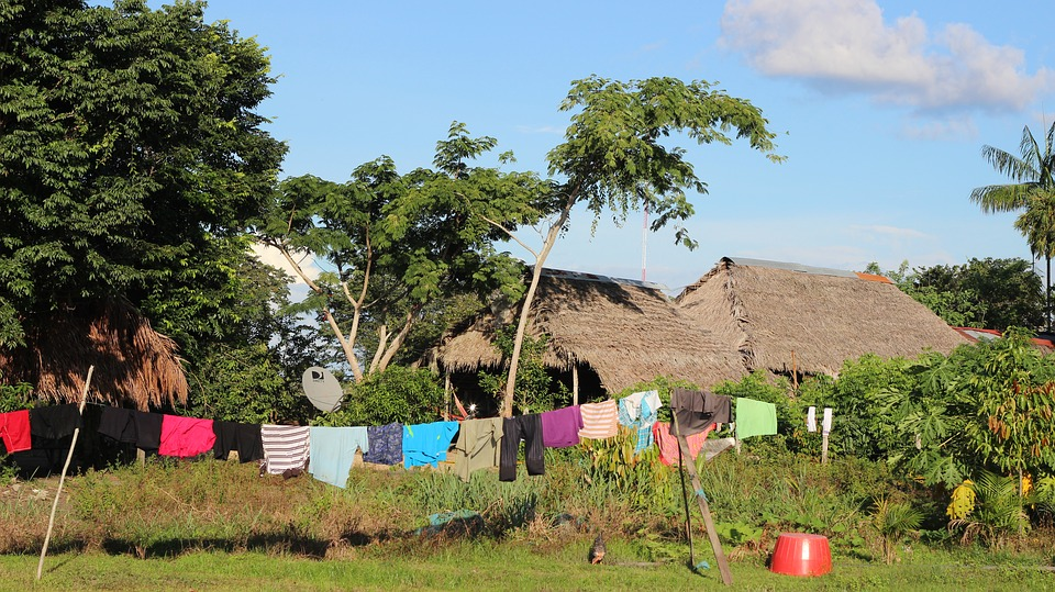 Puerto Inirida, Colombia, Clothes Lying
